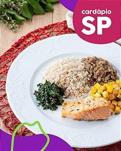 SP | F3 - Salmão, arroz integral, lentilha, mandioquinha e espinafre