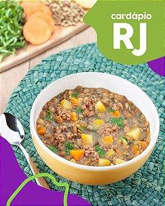 RJ | F2 - Papinha de Músculo bovino, mandioquinha e lentilha