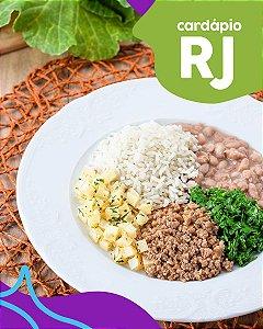 RJ | F3 - Músculo bovino, arroz, feijão, batata e couve