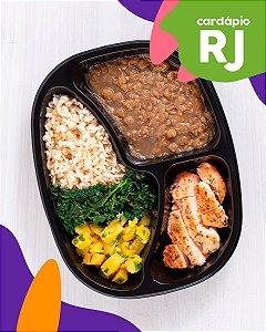 RJ | Especialidades - Salmão, arroz integral, lentilha, mandioquinha e espinafre