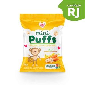 RJ | MINI PUFFS  Banana e Cenoura - Nhami Mami
