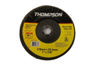 DISCO FLAP GRÃO 120 178MMX22,2MM (7''X7/8'') THOMPSON