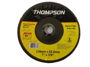 DISCO FLAP GRÃO 40 178MMX22,2MM (7''X7/8'') THOMPSON