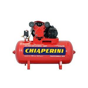COMPRESSOR DE AR CHIAPERINI 10 PÉS 110 LITROS 110V/220 RED