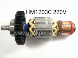ROTOR 220V PARA MARTELO ROMPEDOR MAKITA HM1203C 510310-2