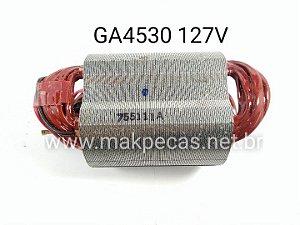 ESTATOR COMPLETO 127V PARA ESMERILHADEIRA MAKITA GA4530