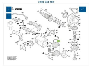 ESTATOR 220V PARA LIXADEIRA BOSCH GWS 21-180 (3601G514E0)