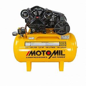 COMPRESSOR PROFISSIONAL LEVE MOTOMIL CMV-10PL/100 110/220V