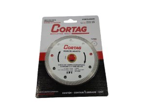 DISCO DE CORTE DIAMANTADO TURBO FURO 20MM 13/16'' CORTAG