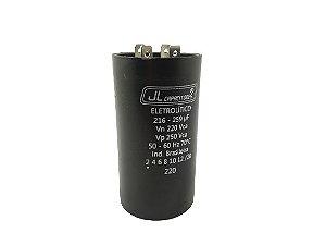 CAPACITOR ELETROLÍTICO 216-259UF 220V 50-60HZ 70ºC