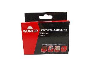 ESPONJA ABRASIVA GRÃO 60 100X70X25MM WORKER