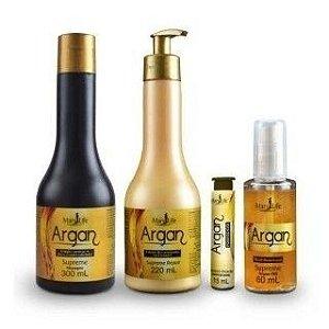 kit Capilar Tratamento Profissional Supreme Argan - Mary Life *Caixa com 3 kits*