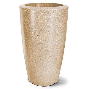 Vaso Plástico Classic Cônico - Areia