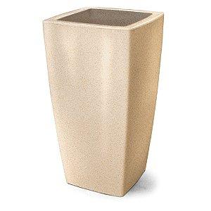 Vaso Plástico Classic Trapézio - Areia