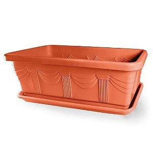 Jardineira Romana N85 82,8 Litros - Cerâmica ATENÇÃO: Pode ser adquirido em kits!