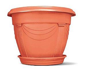 Vaso Plástico Romano Redondo Mini 0,6 Litros - Cerâmica  ATENÇÃO: Pode ser adquirido em kits!