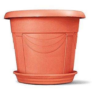 Vaso Plástico Romano Redondo N4 35,5 Litros - Cerâmica  ATENÇÃO: Pode ser adquirido em kits!