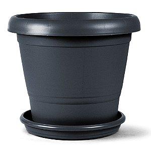 Vaso Plástico Terracota N3 22 Litros - Preto ATENÇÃO: Pode ser adquirido em kits!