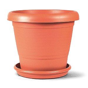 Vaso Plástico Terracota N3 22 Litros - Cerâmica ATENÇÃO: Pode ser adquirido em kits!