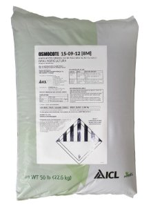 Fertilizante Osmocote 15-09-12 / 8-9 meses - Saca 22,6 Kg