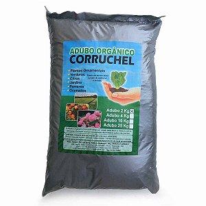 Adubo Orgânico 2Kg Corruchel - Casca de pinus decomposta, cama de peru e pó de rocha.