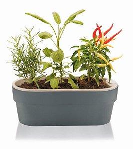Jardineira Auto Irrigável Hortinha Cor Chumbo