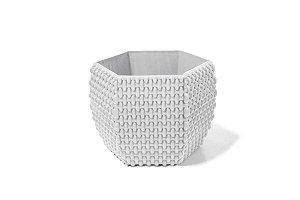Cachepô N15 Athenas Hexagonal Branco 13x15