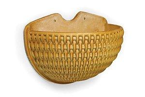 Vaso de Parede Meia Lua N37 Athenas  Palha 30x38