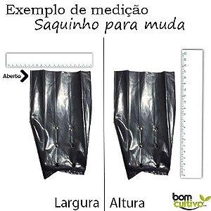 Saco Plástico Preto para Mudas 05 x 09 x 0,10 - 1Kg