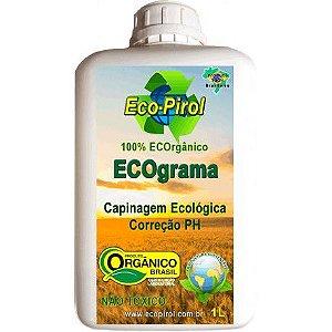 EcoPirol ECOgrama 2 em 1 Capina Ecológica e Corrige PH Orgânico - Frasco 1 Litro