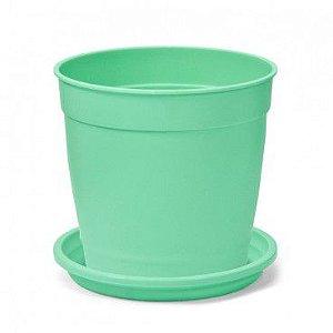Vaso Aquarela N3,5 com prato Nutriplan  Verde
