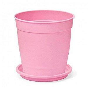 Vaso Aquarela N3,5 com prato Nutriplan  Rosa