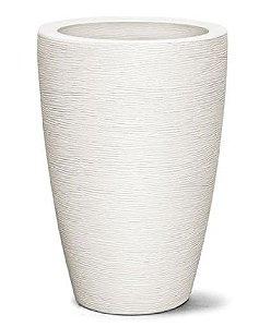 Vaso Grafiato Cônico N29  29X20 Branco