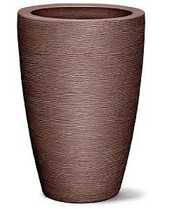 Vaso Grafiato Cônico N29  29X20 Tabaco