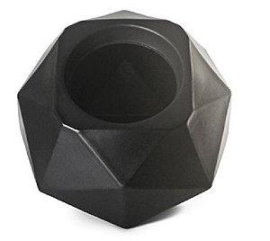 Vaso Cachepô Quartzo N16 Preto Capacidade 4,75 Litros