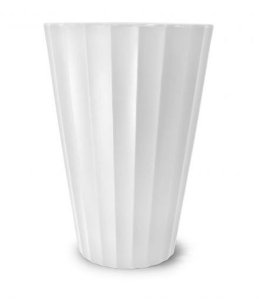 Vaso Creta Cônico N24 branco 24x17