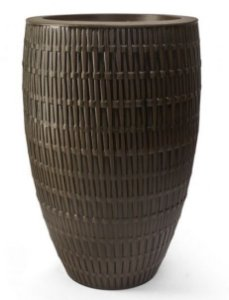 Vaso Bambu Oval N75 Carvalho 75x45