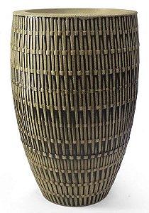 Vaso Bambu Oval N75 Envelhecido 75x45
