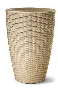 Vaso Treccia Cônico N39 Areia 39x29,9