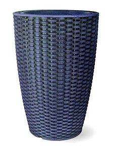 Vaso Treccia Cônico N30 Azul 30x20,5