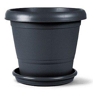 Vaso Plástico Terracota N1 3,3 Litros - Preto