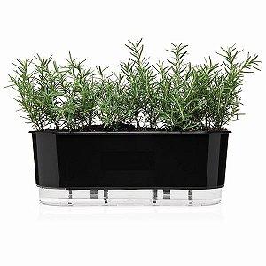 Jardineira Autoirrigável Raiz Preto 40cm