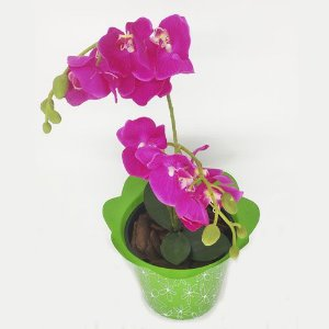 VASO PET FLOR FLEXIVEL MINI VERDE - KIT COM 20 UNIDADES