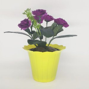VASO PET GIRASSOL FLEXIVEL MINI  AMARELO - KIT 20 UNIDADES