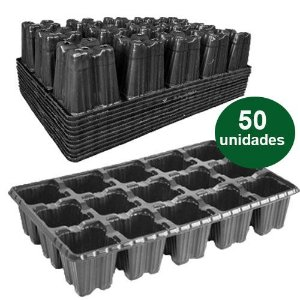 BANDEJA PLASTICA 15 CELULAS BAIXA - 50 UND