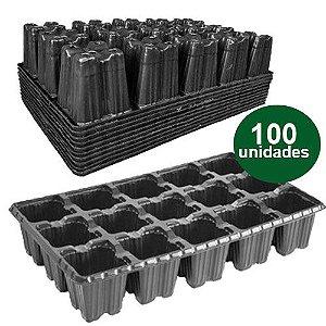 BANDEJA PLASTICA 15 CELULAS BAIXA - 100 UND