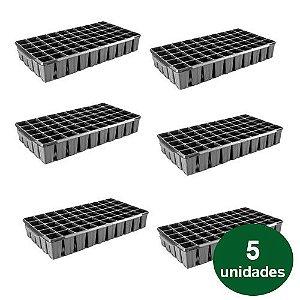 BANDEJA PLASTICA 50 CELULAS QUADRADA - 5 UND