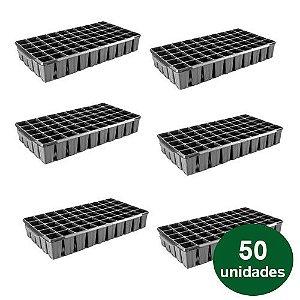 BANDEJA PLASTICA 50 CELULAS QUADRADA - 50 UND