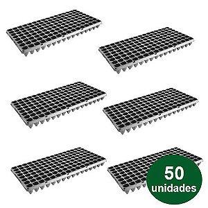 BANDEJA PLASTICA 128 CELULAS - 50 UND