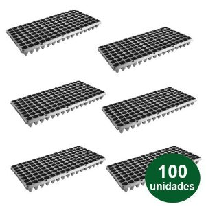 BANDEJA PLASTICA 128 CELULAS - 100 UND